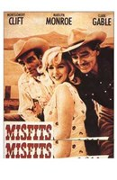 The Misfits Clift Monroe Gable Wall Poster