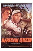 The African Queen Bogart & Hepburn Wall Poster