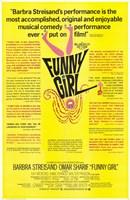Funny Girl Yellow Wall Poster