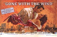 Gone with the Wind  Horizontal Close Up Wall Poster