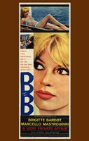 Very Private Affair Brigitte Bardot Wall Poster