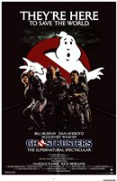 Ghostbusters They're Here Wall Poster