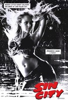 Sin City Jessica Alba as Nancy B&W Wall Poster