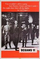 Oceans 11 Black and White with Red Wall Poster