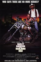 Harley Davidson and Marlboro Man Mickey Rourke Wall Poster