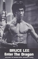 Enter the Dragon Burce Lee Black and White Wall Poster