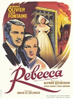 Rebecca Alfred Hitchcock Wall Poster