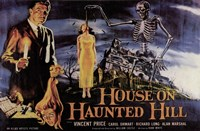 House on Haunted Hill Vincent Price Wall Poster