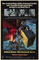Where Eagles Dare - movie cover Wall Poster