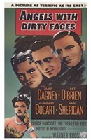 Angels with Dirty Faces Gagney O'Brien Bogart Sheridan Wall Poster