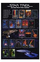 Star Trek: One-Sheet Movie Poster Checklist Fine-Art Print