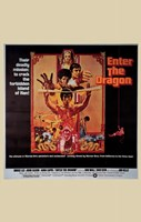 Enter the Dragon Tan Border Wall Poster