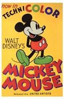 Walt Disney's Mickey Mouse Poster Wall Poster