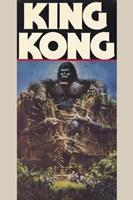 King Kong Crushing Train I Wall Poster