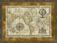 Antique World Map Fine-Art Print