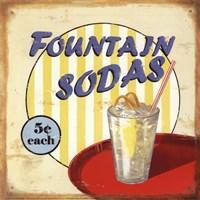 Fountain Sodas Fine-Art Print