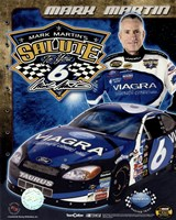 2006 Mark Martin collage- car, number, driver and signature Fine-Art Print