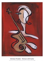 Woman with Guitar Fine-Art Print