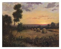 Haystacks At Dusk Fine-Art Print