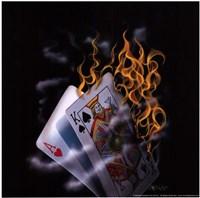Burning Blackjack Fine-Art Print