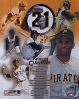 Roberto Clemente - Legends of the Game Composite Fine-Art Print