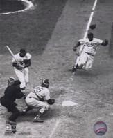 Jackie Robinson - baseball action Fine-Art Print