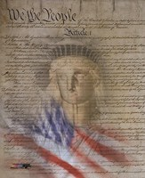 Flag/Constitution Collage Fine-Art Print