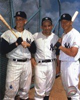 Roger Maris, Yogi Berra, and Mickey Mantle Fine-Art Print