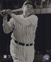 Babe Ruth -Bat over shoulder, posed sepia Fine-Art Print