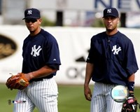 A.Rodriguez and D.Jeter - 2004 Spring Training Fine-Art Print