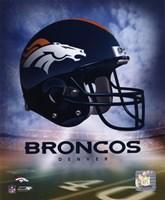 Denver Broncos Helmet Logo Fine-Art Print