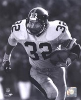 Franco Harris - Rushing With Ball (B&W) Fine-Art Print