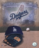 Los Angeles Dodgers - '05 Logo / Cap and Glove Fine-Art Print