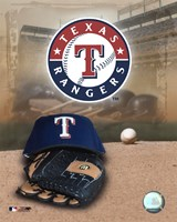 Texas Rangers - '05 Logo / Cap and Glove Fine-Art Print