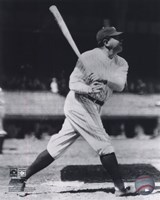 Babe Ruth - Batting Action On The Field Fine-Art Print