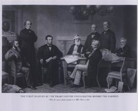 President Lincoln First Reading of the Emancipation Proclamation (#4) Fine-Art Print