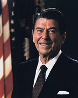 Official Portrait of President Ronald Reagan (#9) Fine-Art Print