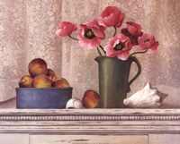 Poppies, Peaches And Shells Fine-Art Print