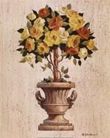 Yellow And Orange Rose Topiary Fine-Art Print
