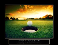 Frustration - Golf Ball Fine-Art Print