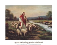 Jesus The Shepherd (Verse) Fine-Art Print
