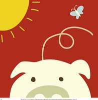 Peek-A-Boo IV Pig Fine-Art Print