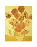 Sunflowers on Gold, 1888 Fine-Art Print