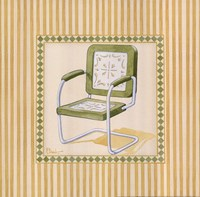 Retro Patio Chair II Fine-Art Print