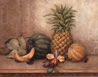 Pineapple And Orchid - Mini Fine-Art Print