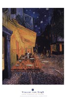 The Cafe Terrace on the Place du Forum, Arles, at Night, c.1888 Fine-Art Print