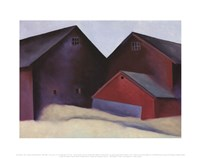 Ends of Barns, 1922 Fine-Art Print