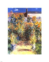 The Artist's Garden at Vetheuil Fine-Art Print