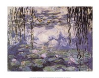 Water Lilies and Willow Branches, c.1917 Fine-Art Print