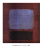 No. 37/No. 19 (Slate Blue and Brown on Plum), 1958 Fine-Art Print